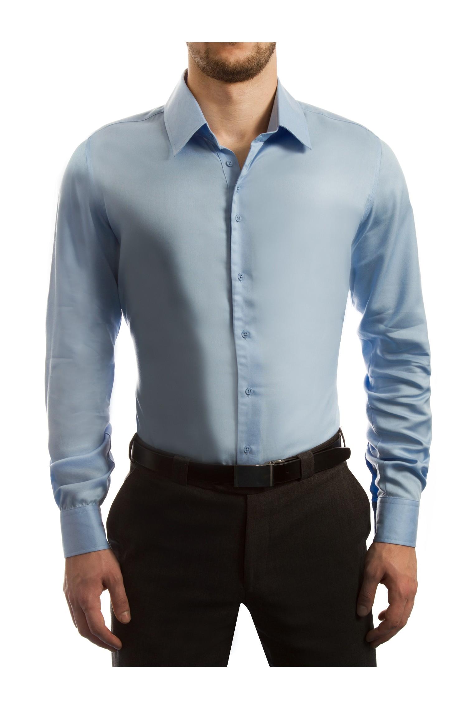 slim fit business blue tencel shirts by detime ref 179 00 this slim. Black Bedroom Furniture Sets. Home Design Ideas