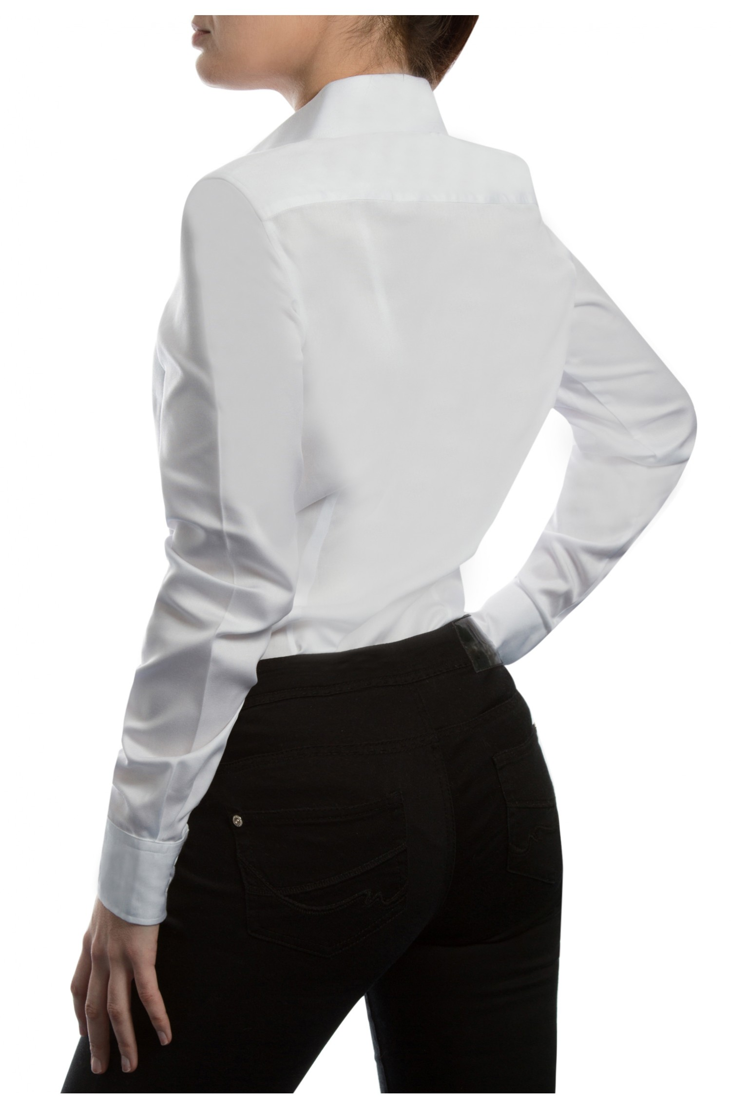 home women slim fit business white and black tencel shirts by. Black Bedroom Furniture Sets. Home Design Ideas