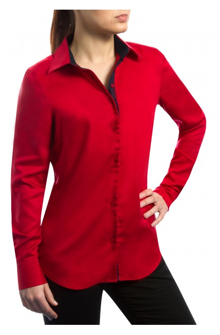 CHEMISE BUSINESS - ROUGE SEDUCTION