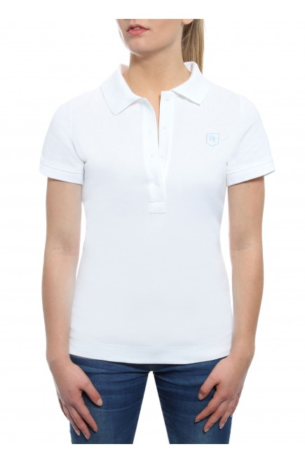 POLO SHORT SLEEVE WHITE IN PRICKED JERSEY COTTON BRUSHED