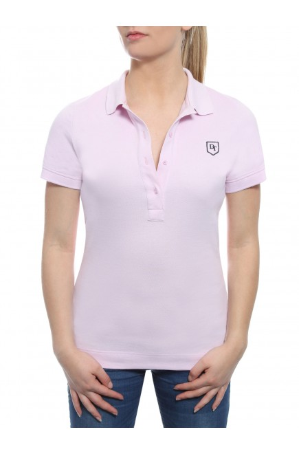 POLO SHORT SLEEVE PINK IN PRICKED JERSEY COTTON BRUSHED