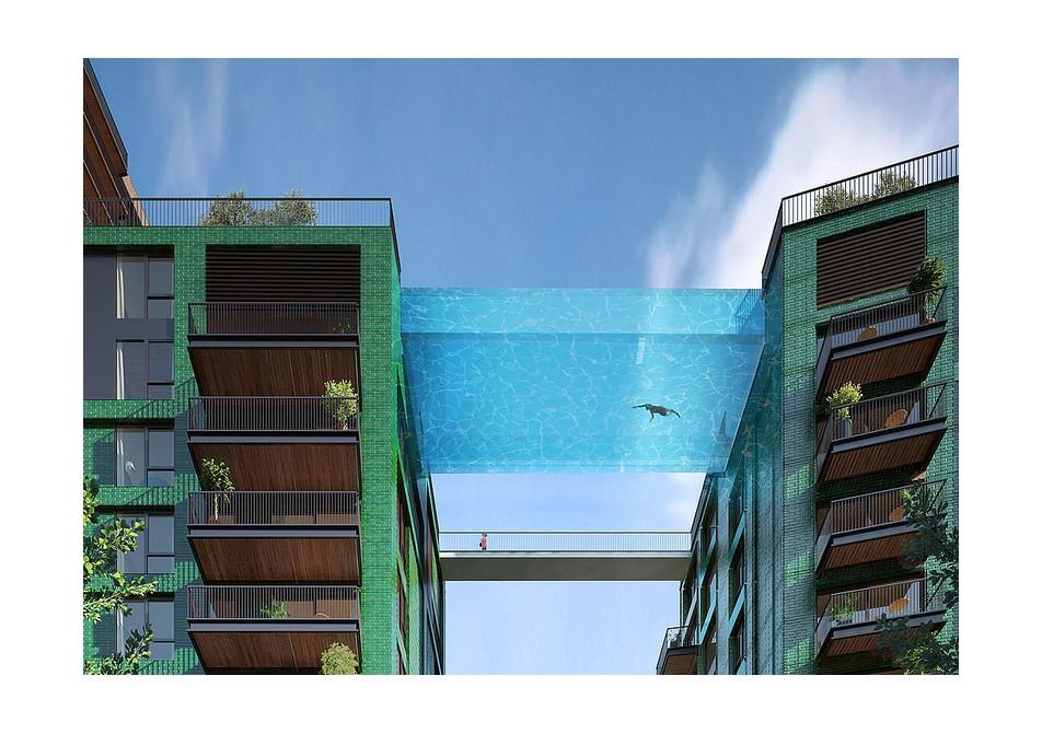 Expérience Sky Pool au cœur de Londres